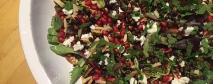 Pomegranate and Black Barley salad