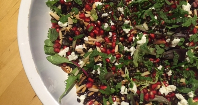 Pomegranate and Black Barley salad