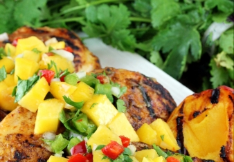 Chipotle Chicken with Peach relish
