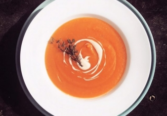 Spicy Pumpkin Soup with Coconut