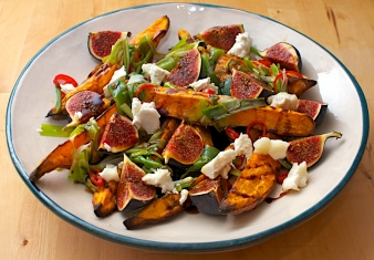 Balsamic roasted Pumpkin, figs and Red Currants