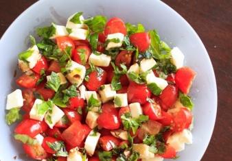 Caprese Salad (Salad of Tomato, Fior di Late and Basil)